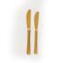 Goudkleurig bestek: Grote dinermes feestmateriaal verhuur