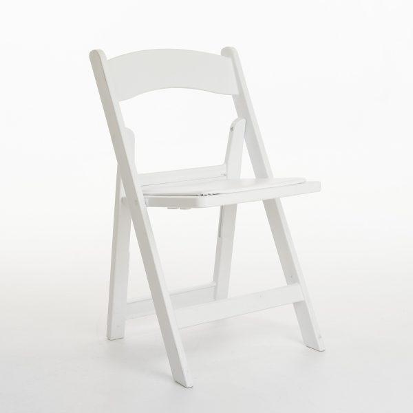 Witte kunststof klapstoel