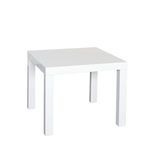 Lounge tafeltje/Bijzettafel wit/donderbruinbruin