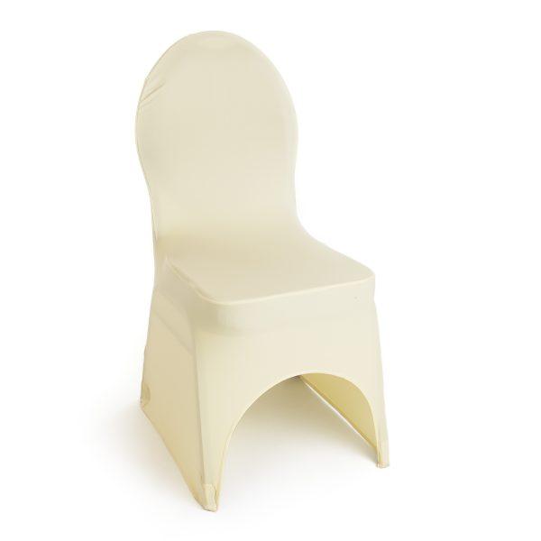 Stretch stoelhoes zwart/wit/ivoor