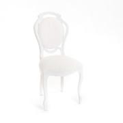 Brocante witte stoel Feestmateriaal verhuur