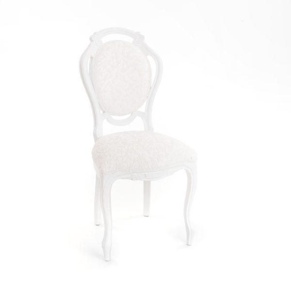 brocante witte stoel