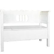 wit houten klepbank Feestmateriaal verhuur