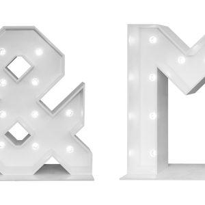 Mr & MRS letters met verlichting 1 m. Feestmateriaal verhuur